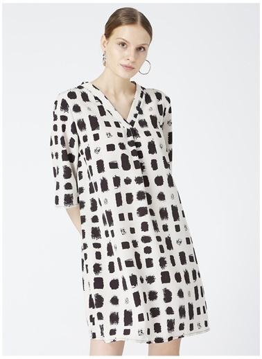 Fabrika Comfort Fabrika Comfort Desenli Elbise Siyah